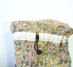Beginner Sewing Projects - A Drawstring Bag Tutorial. They're perfect for Back to School prep, for party favors, for organizing items wh...
