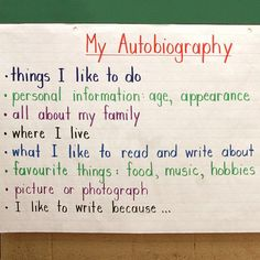 The third graders are learning about the characteristics of a all about me autobiography more pronofoot35fo Choice Image