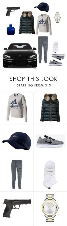 """""""Untitled #1151"""" by loreta-798 ❤ liked on Polyvore featuring adidas, Moncler, NIKE, Calvin Klein, Smith & Wesson, Movado, BMW and Lacoste"""