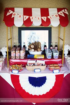Baseball Party Concession Stand | Oh Sugar Events
