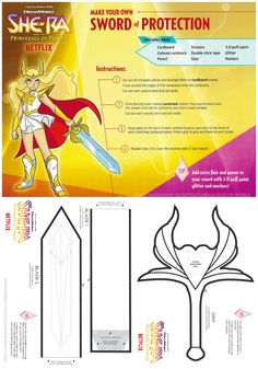 Cosplay Ideas DIY Sword of Protection Craft - DreamWorks She-Ra and the Princesses of Power on Netflix November 13 - DreamWorks She-Ra and the Princesses of Power Netflix Costume Idea Sword Craft Cosplay Sword, Cosplay Diy, Cosplay Costumes, Halloween Costumes, Teen Costumes, Woman Costumes, Pirate Costumes, Group Costumes, Couple Halloween