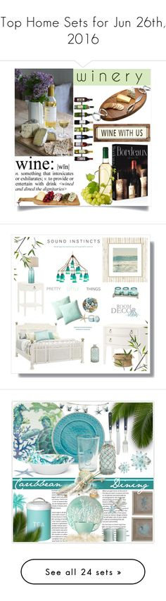 """""""Top Home Sets for Jun 26th, 2016"""" by polyvore ❤ liked on Polyvore featuring interior, interiors, interior design, home, home decor, interior decorating, Poncho & Goldstein, Assouline Publishing, Oenophilia and Nambé"""