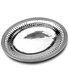 Beautiful tray to display your vases or candles on your coffee table.  Wilton Armetale Flutes and Pearls Oval Tray #Dillards