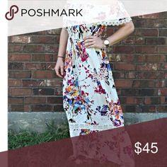 💢BLACK FRIDAY PRICE💢Floral off the shoulder maxi Floral off the shoulder maxi dress Umgee Dresses Maxi