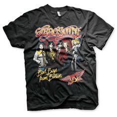 Aerosmith - Band heren unisex T-shirt zwart - Band merchandise   Atti
