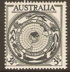 Australia 1954 3½d Antarctic Research Stamp. SG279.
