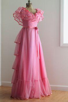 The Milla Dress Vintage NOS 1970s Prom Dress by LeBlushVintage