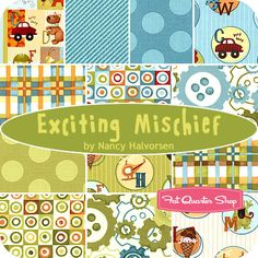 Exciting Mischief Fat Quarter Bundle Nancy Halvorsen for Benartex Fabrics - Fat Quarter Shop