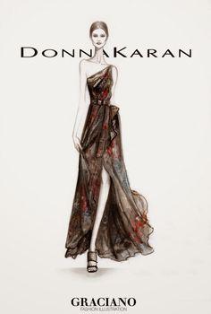 GRACIANO fashion illustration: DONNA KARAN SPRING 2015 #NYFW
