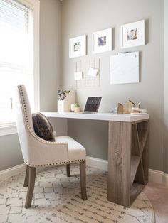 Desk | Round Moroccan Rug | Marble Stapler | Gold Pencil Holder | I Have  Been Wanting An Office Since I Started The Blog, But Kept Putting It Off  Due To ...