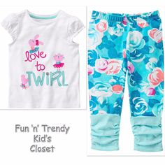 NWT Gymboree BALLET CLASS Girls Size 6-12 Months Leggings & Tee Top 2-PC OUTFIT #Gymboree #Everyday