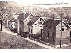 Dei fleste av desse gamle husa på dette bilde frå Fløenbakken (frå Fotomuseum Bergen ikkje datert) står her i dag, men det er ikkje sikkert det blir så lenge