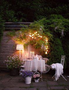 Maar een romantische avond buiten net iets sfeervoller met deze lampjes.