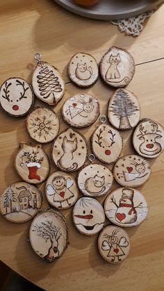 Wood Slices, Cookies, Ornaments, Desserts, Christmas, Diy, Crafts, Food, Crack Crackers