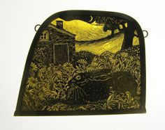 """Marigold Hare"" by stained glass artist Tamsin Abbott"