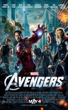 The Avengers (2012) - Robert Downey, Jr., Chris Evans, Mark Ruffalo, Chris Hemsworth, Scarlett Johansson, Jeremy Renner, Tom Hiddleston, Clark Gregg, Cobie Smulders, Stellan Skarsgård, Samuel L. Jackson, Gwyneth Paltrow. My rating: 7/10