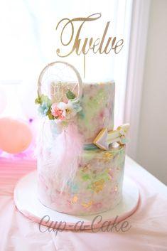 ellas first birthday 14th Birthday Party Ideas, Bohemian Birthday Party, Wild One Birthday Party, Baby Girl First Birthday, Birthday Cake Girls, Birthday Parties, Birthday Cakes, Dream Catcher Cake, Dream Catchers