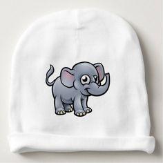 #cute #baby #beanies #babybeanies - #Elephant Cartoon Character Baby Beanie