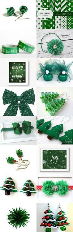 Green Christmas by Miglena Doneva on Etsy--Pinned with TreasuryPin.com