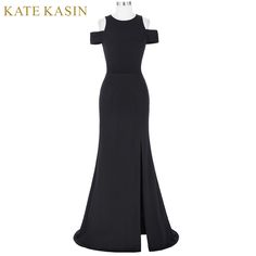 Cheap dress bodycon, Buy Quality dress sellers directly from China dresses causal Suppliers: Kate Kasin Women Black Prom Dresses 2017 Vestido de Festa Cap Sleeve Cocktail Dress Long Prom Gowns Special Occasion Dresses