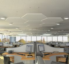 Optima Canopies from @Lauren Davison Armstrong Ceilings - ideal for the office