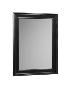 "RonBow 606124 Milano 24"" Solid Hardwood Framed Rectangular Bathroom Mirror Antique Black Home Decor Mirrors Plumbing"