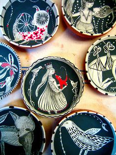 """Jenny Mendes  These have an amazing """"folkart"""" sensibility that I love!"""