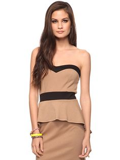 Not well endowed? No problem. Seek a double-edged sweetheart neckline like this one from Forever 21. The shape of the neck paired with black piping creates the illusion of a bust no matter what you're working with.  Forever 21, $17.80 forever21.com