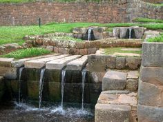 At Tipon, Peru, the Incan Empire build irrigation and navigation systems as well as natural springs.