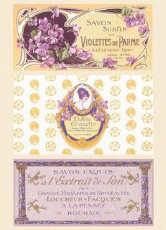 French Soap Labels