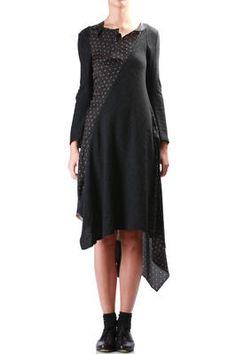 JUNYA WATANABE - Patchwork Of Textures And Prints Asymmetric Dress