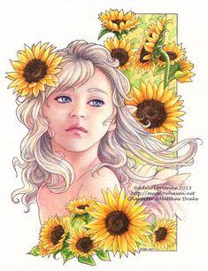 Sunflowers by Saimain.deviantart.com on @deviantART