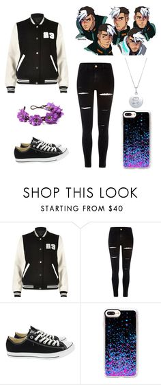 """""""Takashi Shirogane Cosplay"""" by yandereash ❤ liked on Polyvore featuring River Island, Converse, Casetify and BERRICLE"""