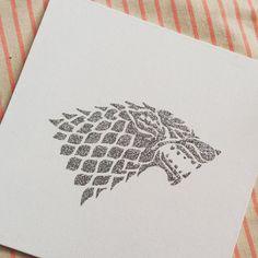 Casa Stark lobo huargo brillo pintura Juego de por Wanderaft