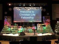 Country Christmas from Christian Life Fellowship in Mayville, WI | Church Stage Design Ideas