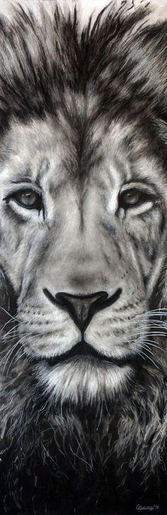 """Guardian"" by Nebraska artist Courtney Kenny Porto. Leo the Lion."