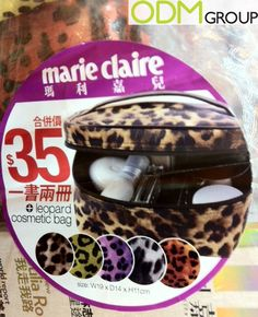 Marie Claire, a monthly women's magazine, is giving out an on-pack leopard cosmetic bag for every magazine bought in Hong Kong. Each cosmetic bag is worth Promotional Bags, Leopard Bag, Marie Claire, Cosmetic Bag, Lunch Box, Cosmetics, Beauty, Bento Box, Beauty Illustration