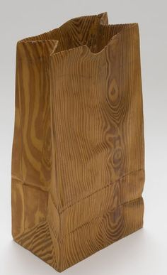 """In the Bag"", 1978, Carl Goldstein, American (b. 1938), wood, 11 1/8 x 6 1/8 x 2 1/2 in. Gift of Lee Tribe, 1991. 1991.4303"
