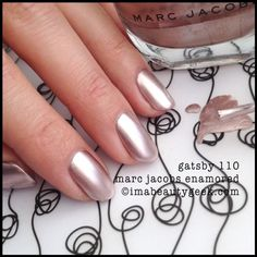 "Marc Jacobs | Gatsby 110 | Enamored Nail Polish | BeautyGeek | ""That's incredibly non-streaky and beautifully chrome-y, huh?"""