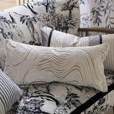 Designers Guild Aurelia Chalk Throw Pillow Ships Free