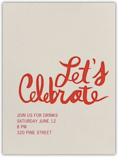 Paperless Post - Let's Celebrate - Online Invitations    #parless #invitation