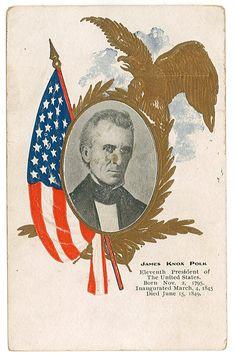 Postcard honoring U.S. President James Knox Polk