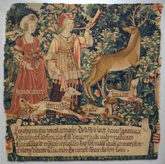 "Netherlands, ""Vanity Sounds the Horn and Ignorance Unleashes the Hounds Overconfidence, Rashness and Desire"", from The Hunt of the Frail Stag, c.1495-1510"