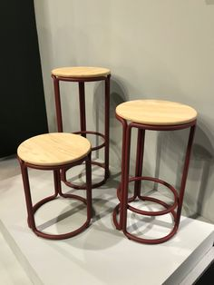 Simple round tube stools with ash seats. My Mm, Contract Furniture, Cologne, Bar Stools, Ash, Tube, Simple, Home Decor, Bar Stool Sports