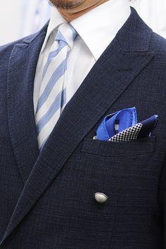 春夏らしい素材感のシャツとネクタイを使った、初夏のジャケットスタイル  Linen jacket & Linen tie   #shirtstyle #shirts #shirtshop #fashionblogger #Menswear #Gentleman #mensfashion #menstyle #menswear #cutaway #Tie #necktie #PocketSquare #shoes #linen