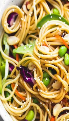 Asian Spaghetti Salad with Sesame Ginger Dressing