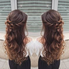 - New Site - Frisuren Hair Quince Hairstyles, Braided Hairstyles, Wedding Hairstyles, Cool Hairstyles, Sweet 16 Hairstyles, Updo Hairstyle, Wedding Updo, Braided Updo, Long Hair Formal Hairstyles
