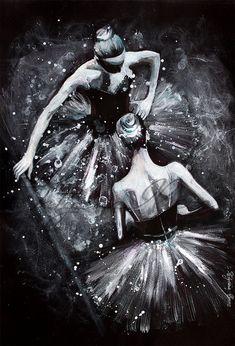 Original Acrylic Painting  Beauty of the night by TatyanaIlieva