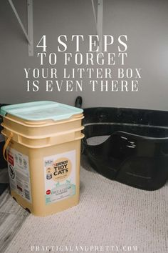 Just because you have a litter box in your home doesn't mean you need to smell it all day long. Take these 4 easy steps to forget your litter box exists. Best Litter Box, Diy Litter Box, Litter Robot, Cleaning Litter Box, Litter Box Enclosure, Litter Box Smell, Cat Pee Smell, Forget, Fresh