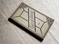 vintage cash book with great cover graphics – unused with numbered pages. Available at AtticAntics, $18.00